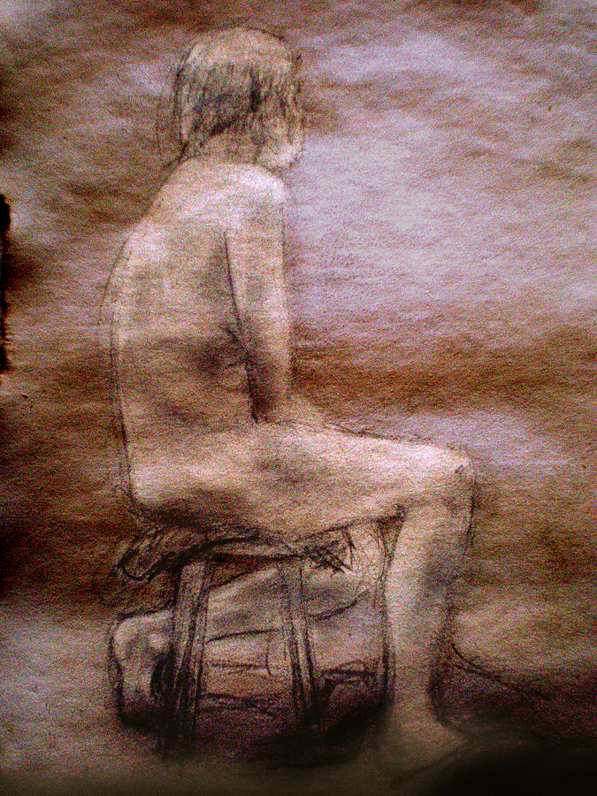 Nude Drawing - Side by Steve Spagnola