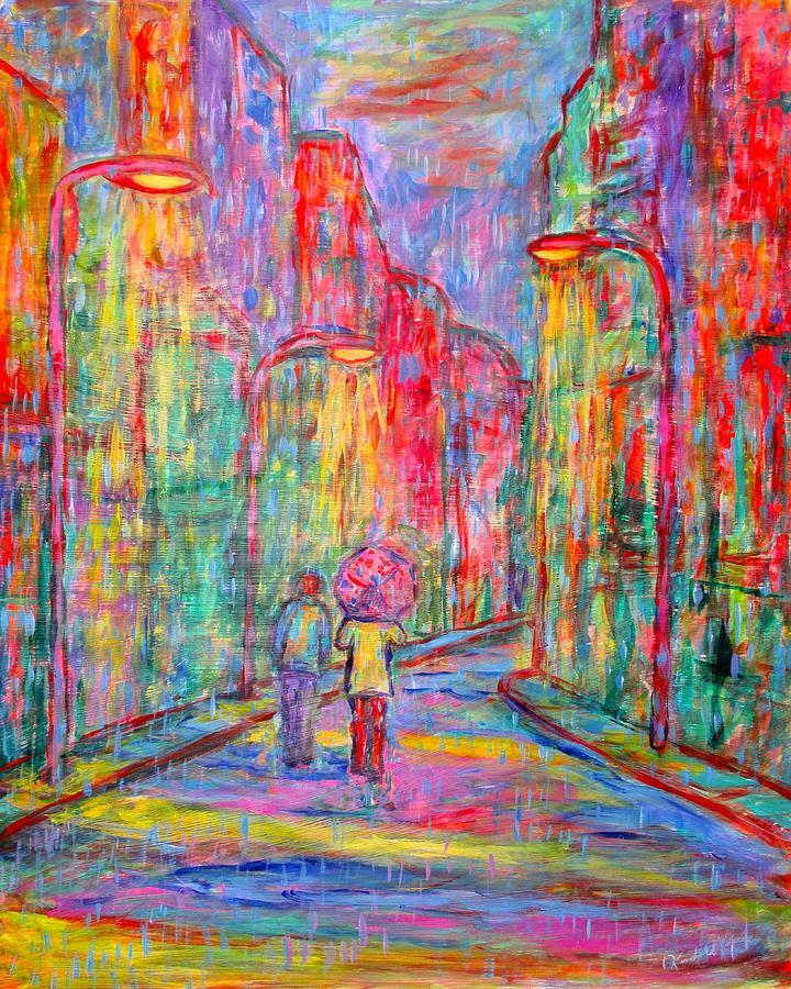 City Painting - Side Street by Kendall Kessler