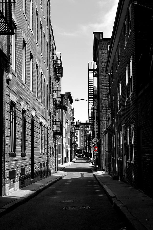 Street Photograph - Side Street On The North End by Nadalyn Larsen
