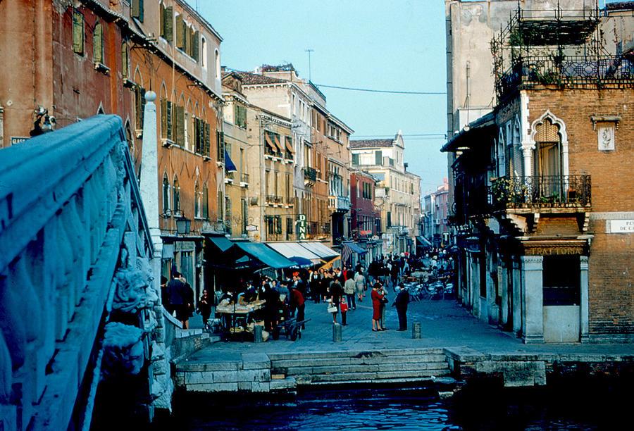 Side Street Photograph - Side street Venice 1961 by Cumberland Warden