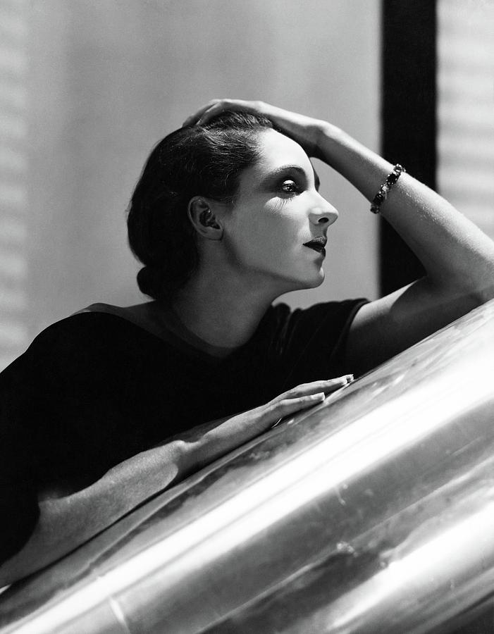 Side View Of Agneta Fischer Photograph by Horst P Horst