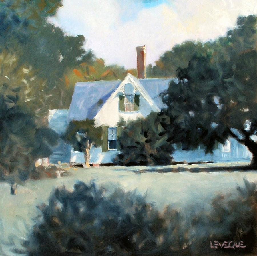 Landscape Painting - Side Yard by Kevin Lawrence Leveque