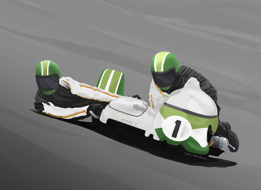 Sidecar Digital Art - Sidecar Racer by Colin Tresadern