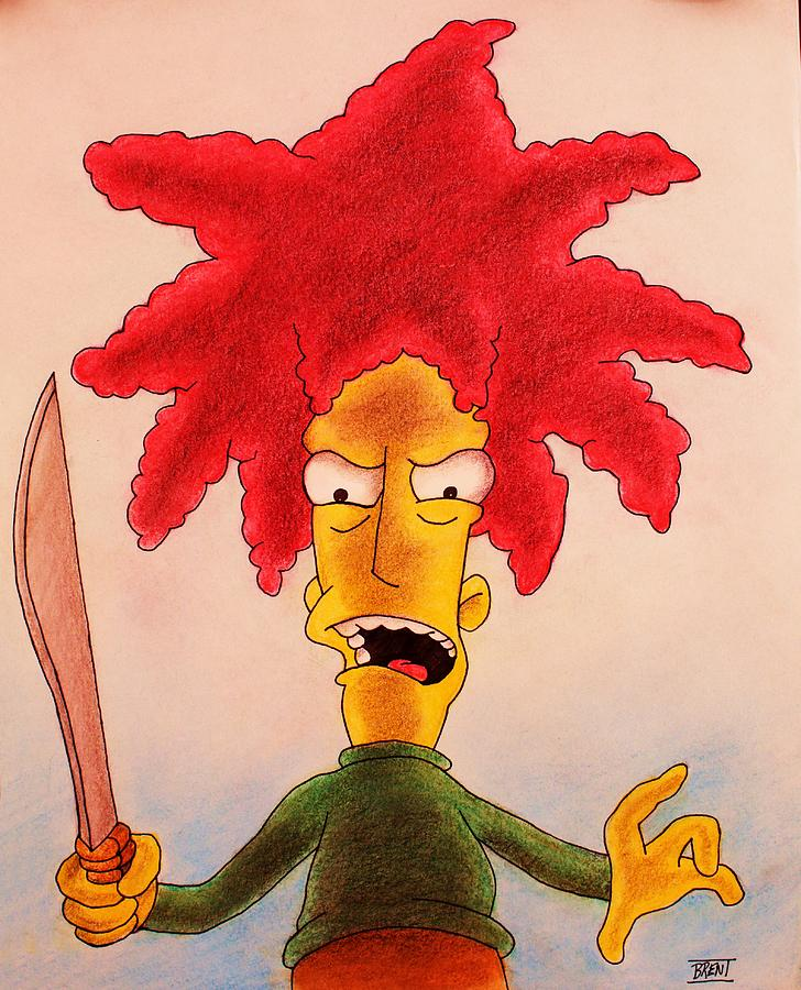 Sideshow Bob Drawing - Sideshow Bob by Brent Andrew Doty