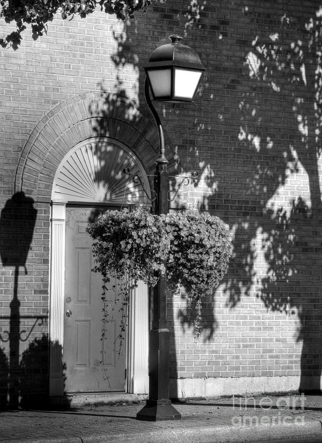 Sidewalks Photograph - Sidewalk Shadows Bw by Mel Steinhauer