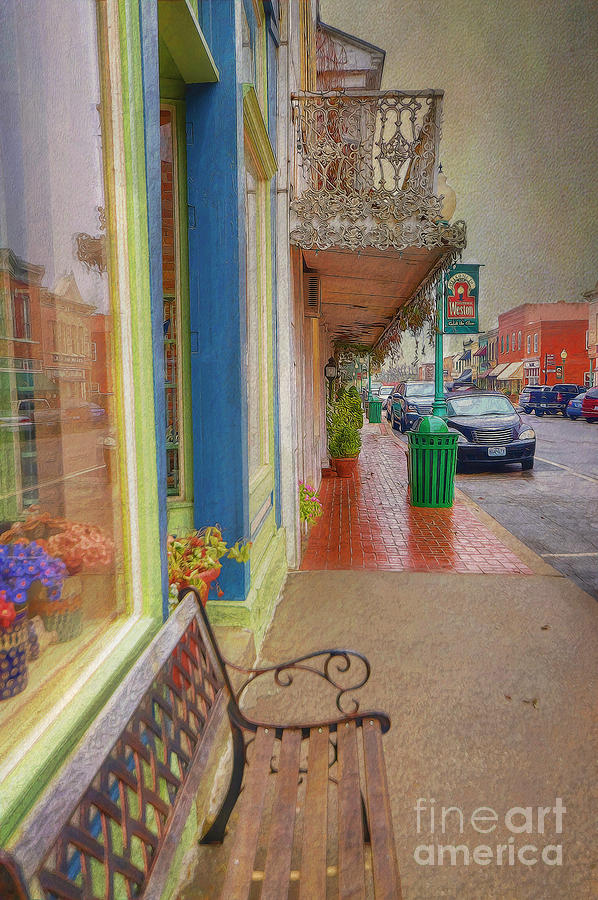 City Photograph - Sidewalk Shot Weston Missouri by Liane Wright