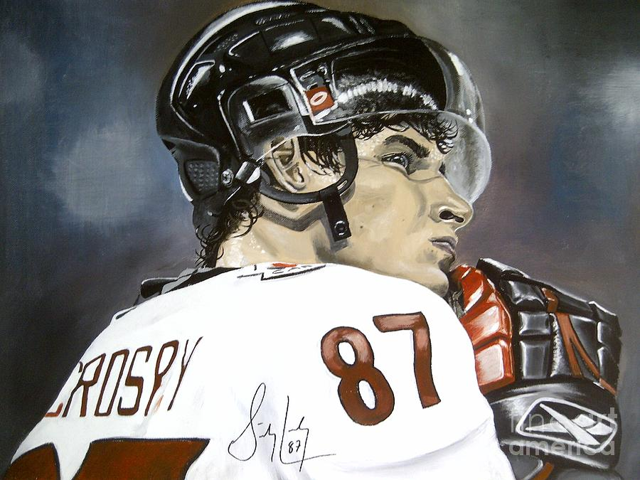 Sidney Crosby Painting By Graham Mcleod