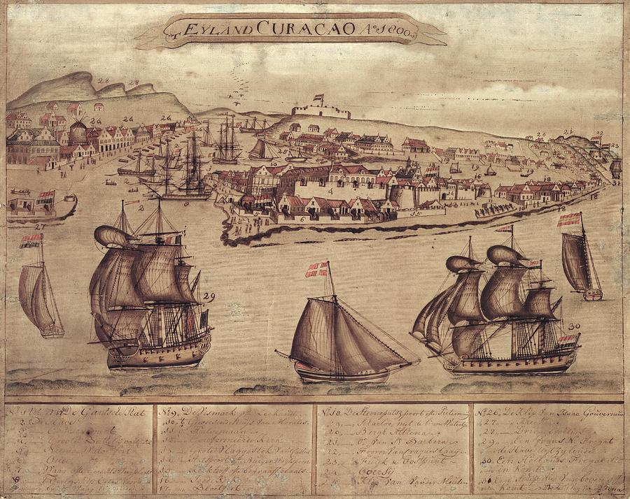Willemstad Photograph - Siege Of Curacao by Library Of Congress, Geography And Map Division