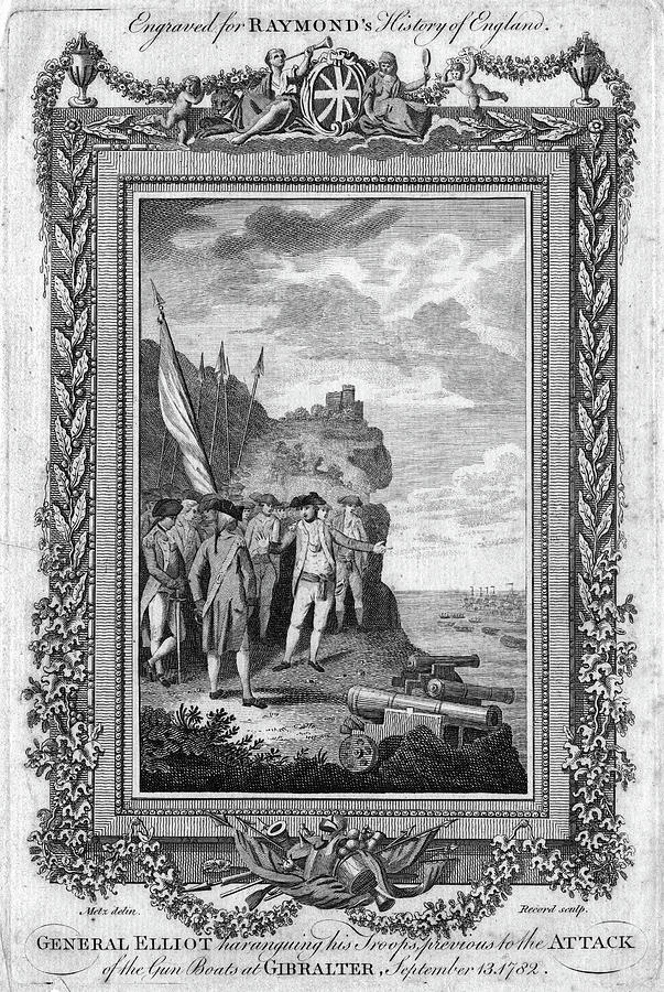 1782 Painting - Siege Of Gibraltar, 1782 by Granger