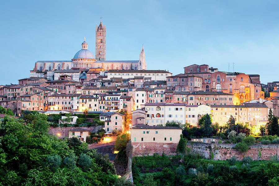 Siena At Dusk Photograph by Jorg Greuel