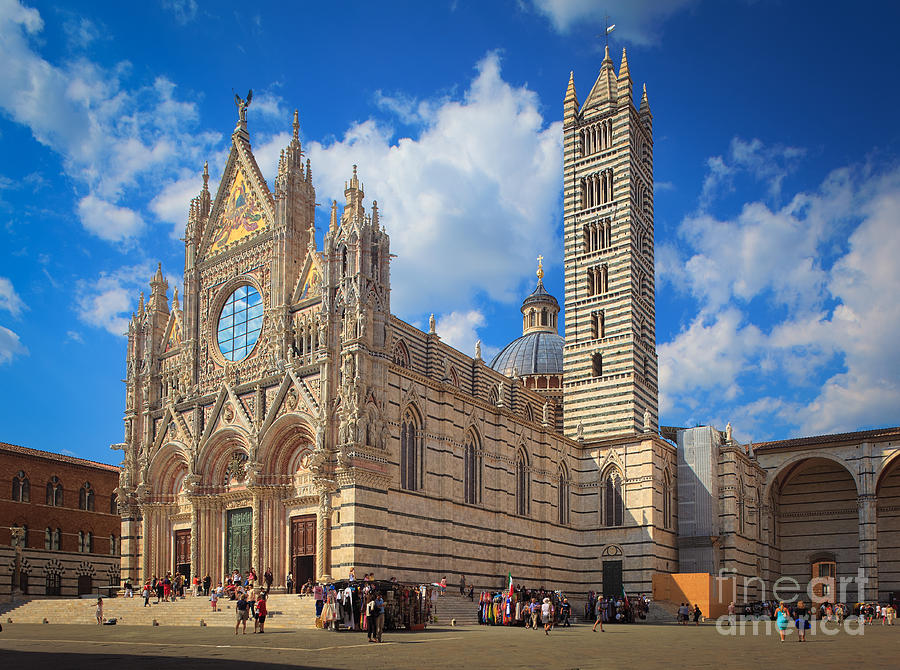 Christianity Photograph - Siena Duomo by Inge Johnsson