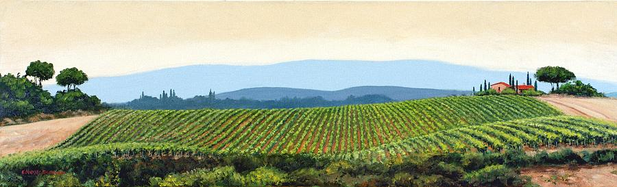 Tuscany Landscape Painting - Sienna Hills by Michael Swanson