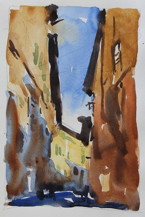 Sienna Painting - Sienna Street by Owen Hunt