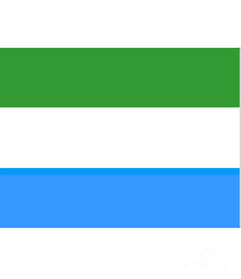 Sierra Leone Digital Art - Sierra Leone Flag by Frederick Holiday