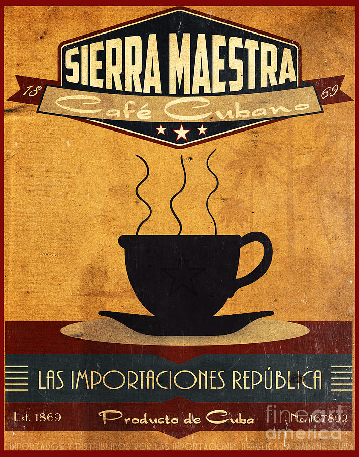 Coffee Painting - Sierra Maestra Cuban Coffee by Cinema Photography