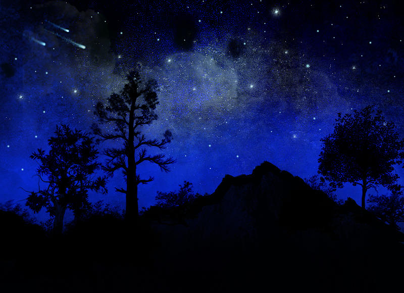 Night Painting   Sierra Silhouette Wall Mural By Frank Wilson Part 54