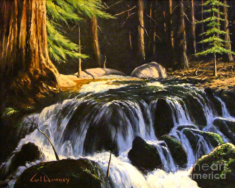 Water Painting - Sierra Stream by Carl Downey