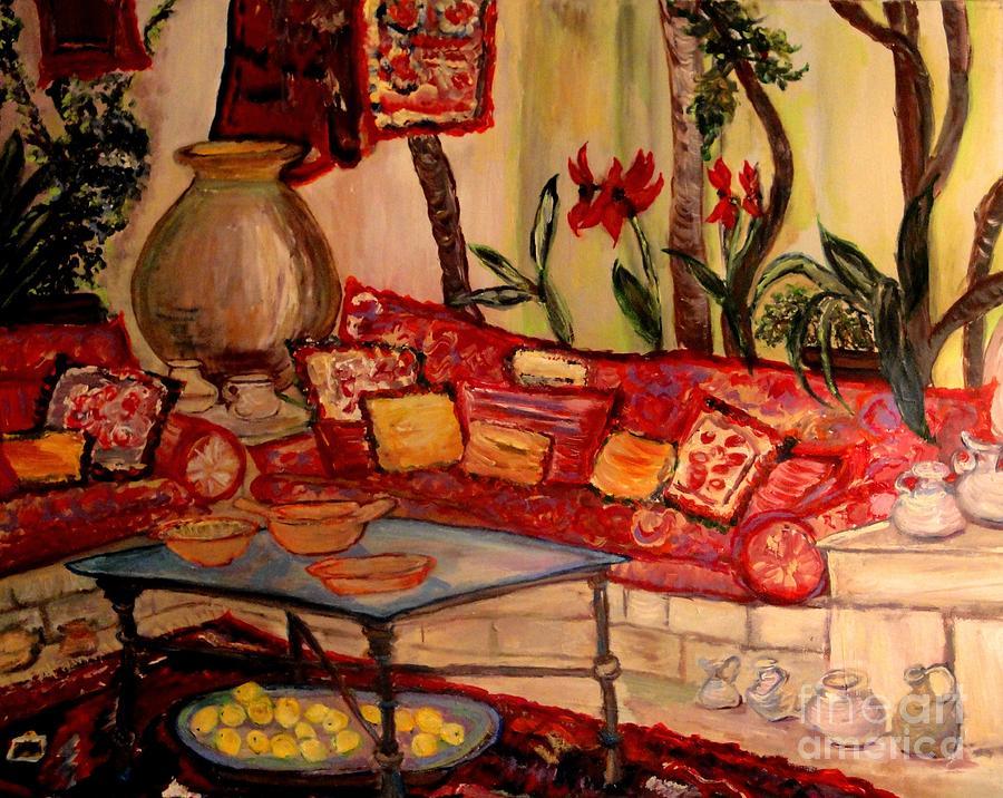 Garden Painting - Sierras Garden Room by Helena Bebirian