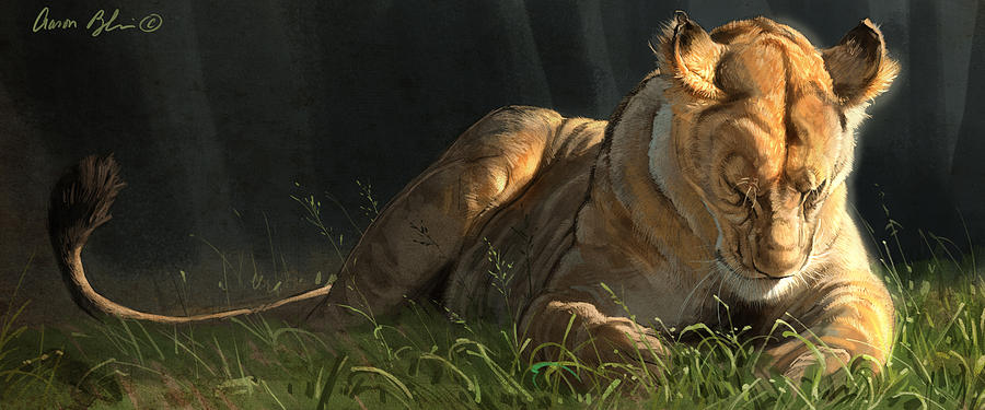 Lion Digital Art - Siesta 2 by Aaron Blaise