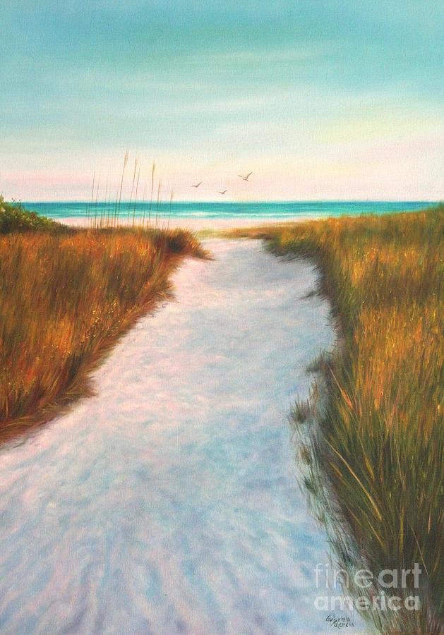 Siesta Key Beach Path Painting By Gabriela Valencia
