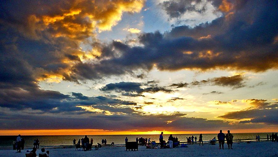 Sunset Photograph - Siesta Sunset by Norman Johnson
