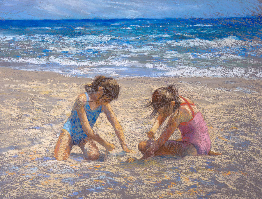 Beach Painting - Sifting Sand by Jackie Simmonds