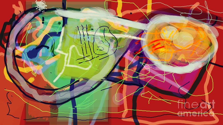 Torah Digital Art - Sigh 1 by David Baruch Wolk