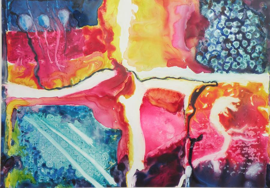 Abstract Painting - Sight And Sounds by Lori Chase