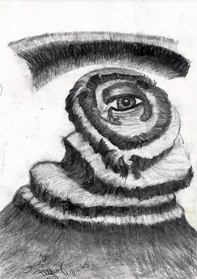 Surrealism Drawing - Sight Beyond Sight by Angela Pelfrey