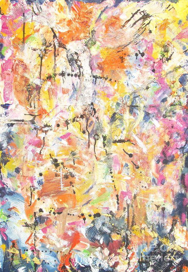 Abstract Painting - Sight by Chaline Ouellet