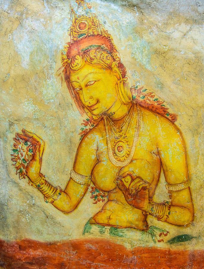 Sigiriya Frescoes Photograph - Sigiriya Frescoes by Hemantha Fernando