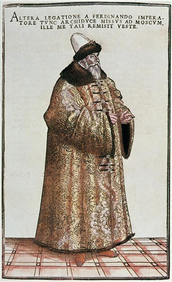 Ambassador Painting - Sigismund Von Herberstein (1479-1533) by Granger