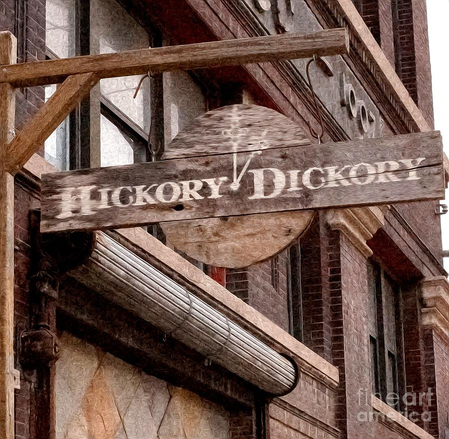 Sign Photograph - Sign - Hickory Dickory - West Bottoms by Liane Wright