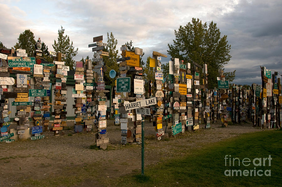 Roadside Attraction Photograph - Sign Post Forest by Mark Newman