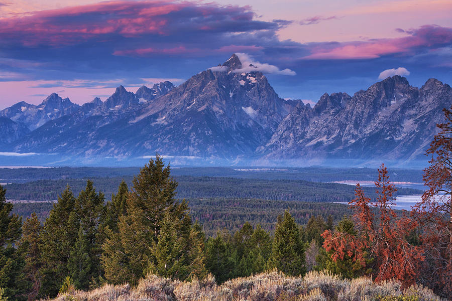 Autumn Photograph - Signal Mountain Sunrise by Mark Kiver