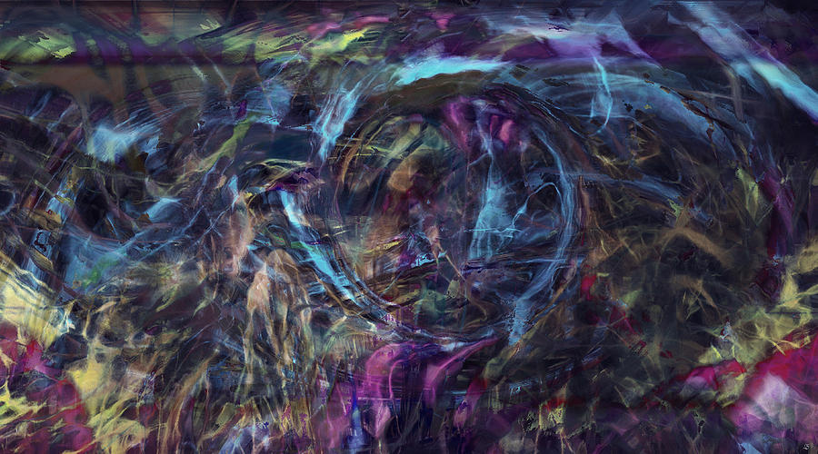 Abstract Art Digital Art - Signal To Noise by Linda Sannuti