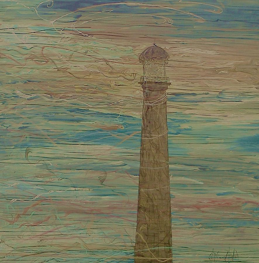 Lighthouse Painting - Signals by Chris Cloud