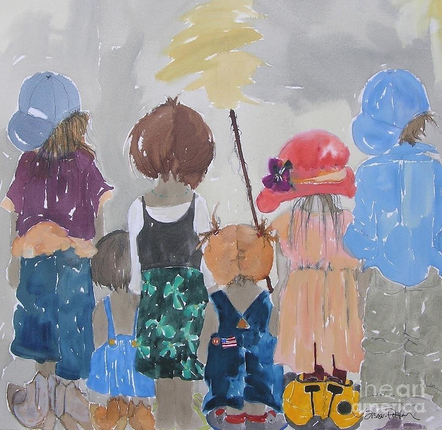 Vicki Aisner Porter Painting - Significant Relationships by Vicki Aisner Porter