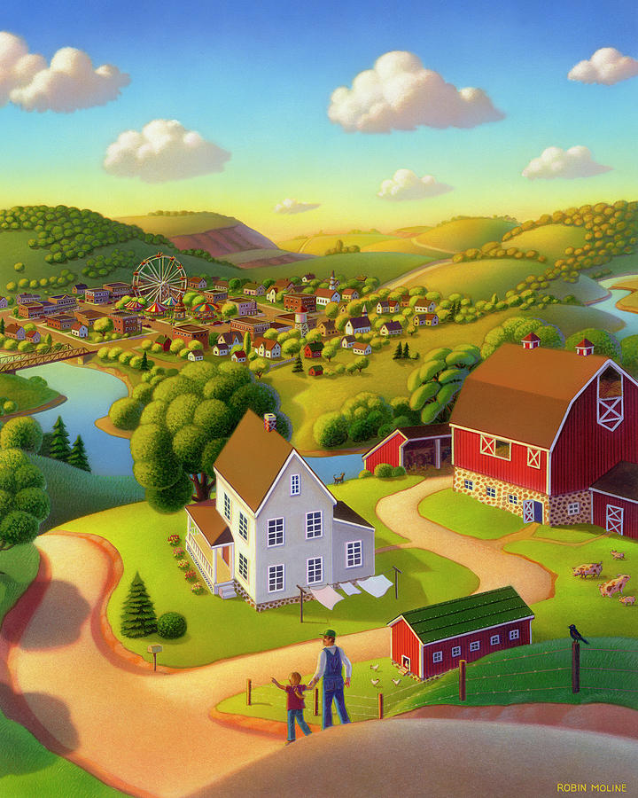 Summer Landscapes Painting - Signs And Wonders by Robin Moline