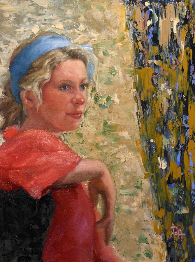 Woman Painting - Signs by Deborah Allison