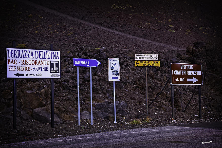 Sicily Photograph - Signs Of A Crater - Sicily by Madeline Ellis