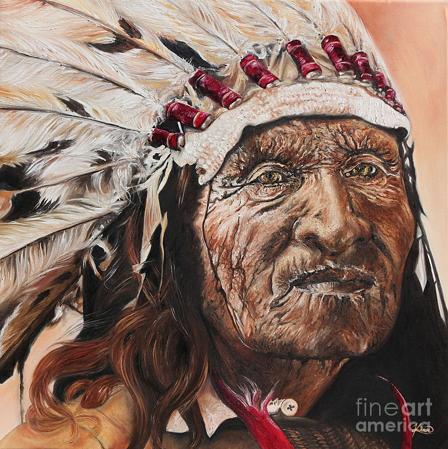 Native American Painting - Signs Of His Times by Annalise Kucan