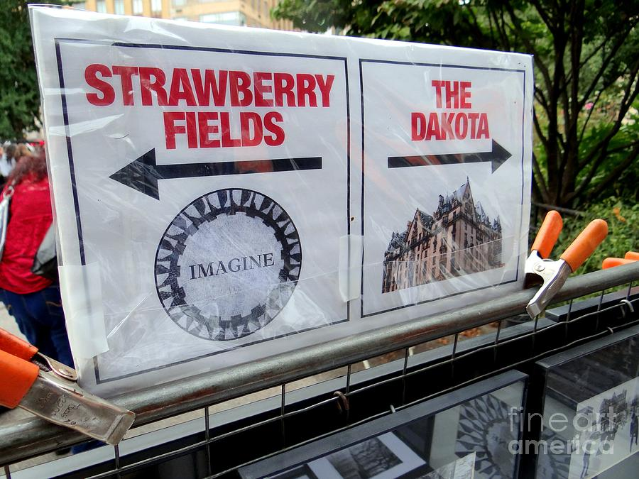 Central Park Photograph - Signs Of John by Ed Weidman
