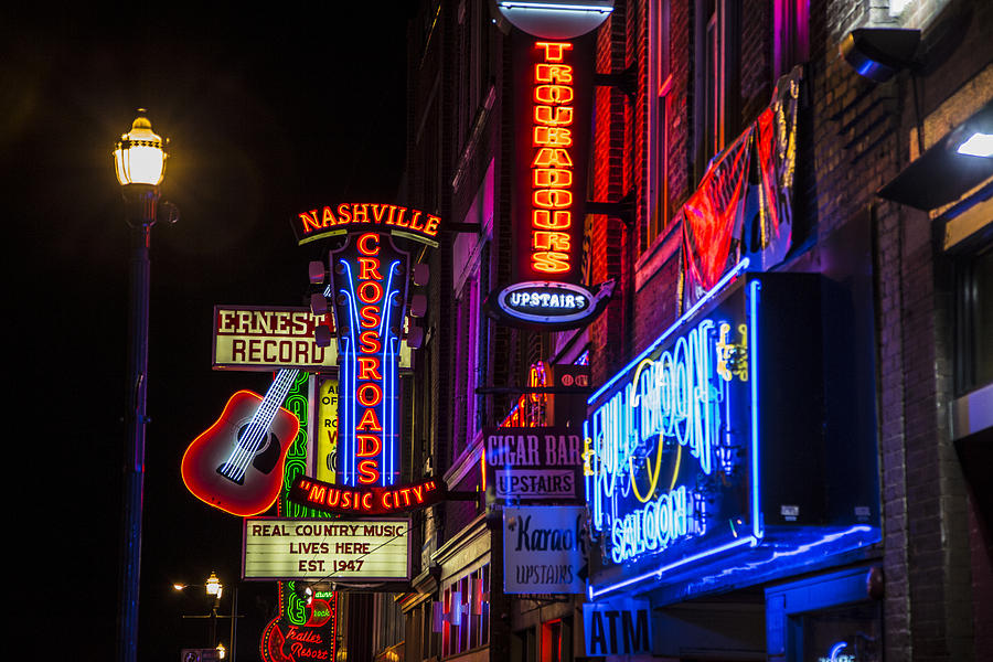 Nashville Photograph - Signs Of Music Row Nashville by John McGraw