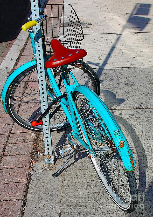 Bicycle Photograph - Signs Of Parking At Sundown by Nina Silver