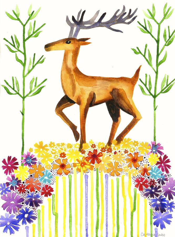 Flower Painting - Signs Of Spring by Cat Athena Louise