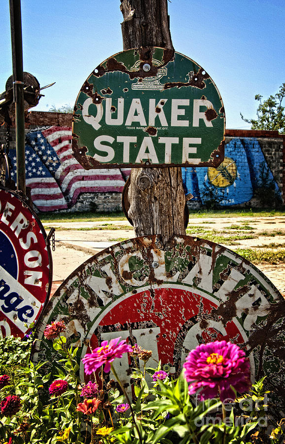 Sign Photograph - Signs Of The Times On Route 66 by Lee Craig