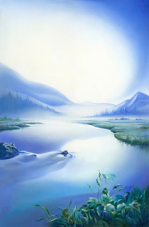 Sky Painting - Silence by Anna Ewa Miarczynska