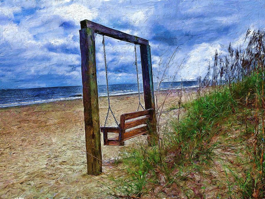 Silence Digital Art - Silence Of The Waves by Cary Shapiro