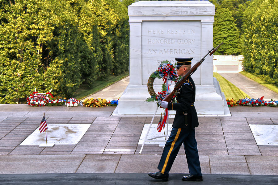 Tomb Of The Unknown Soldier Photograph - Silence Sings by Mitch Cat
